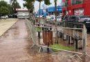 Prefeitura instala gradil de limitação na praça do Mercado Municipal, Kartódromo e Pista de Skate