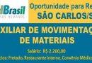 VAGA DE EMPREGO para AUXILIAR DE MOVIMENTAÇÃO DE MATERIAIS / SALÁRIO + BENEFÍCIOS
